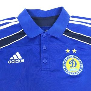 Adidas FC Dynamo Kyiv Blue Football Golf Polo L
